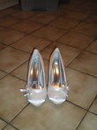 chaussures ivoires satin  - Occasion du Mariage