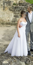 Robe courte + jupon tulle long - Occasion du Mariage