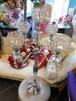 Location Grands chandeliers argenté pampilles et strass  - Occasion du Mariage