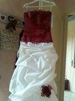 Robe de mariée ivoire et bordeaux taille 42 - Occasion du Mariage