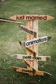 panneau indicateur bois - Occasion du Mariage