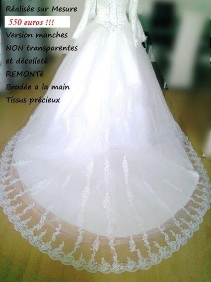 Urgent - Robe de Mariée Avec Hijab + Accessoires