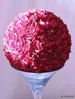 Boules de roses artificielles bordeaux diam 48 cm pour déco  - Occasion du Mariage