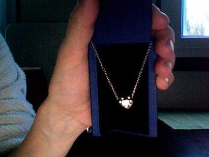 Collier coeur diamants Swarovski d'occasion