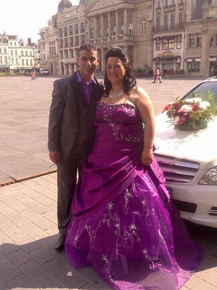 Robe de mariee en violet