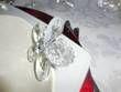 7 ronds de serviette forme bague fleurs diamants plexi  - Occasion du Mariage