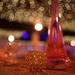 Photophore cristal et or  - Occasion du Mariage
