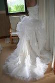 Robe de mariée pas cher foureau et corset en soie - Occasion du Mariage