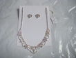Collier Strass + Boucle d\'oreille Neuf  - Occasion du Mariage