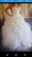 Robe de mariée Hayari+Boléro+ Voile traine 4 m - Occasion du Mariage