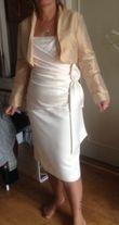 ensemble robe de mariee courte et etole+bolero - Occasion du Mariage