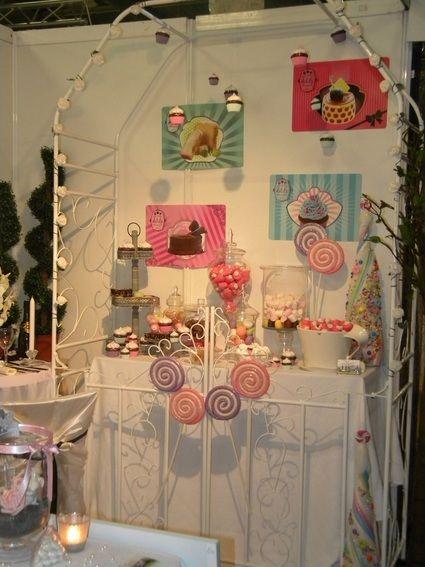 Candy bar en décoration de table de mariage