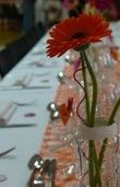 Fil aluminium torsadé orange et fushia - Occasion du Mariage