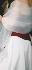 Robe de mariée rouge et ivoire - Occasion du Mariage