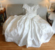 NEUVE Robe princesse soie sauvage drapé traîne T38 - Occasion du Mariage