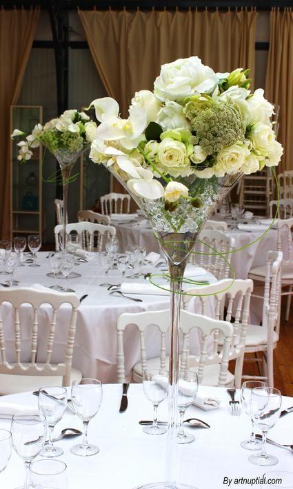 12 vases martini 70 cm forfait 6 euros par vase pour mariage - Decoration de vase pour mariage ...