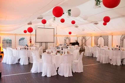 Boules chinoises lampions rouges et blanches Yvelines