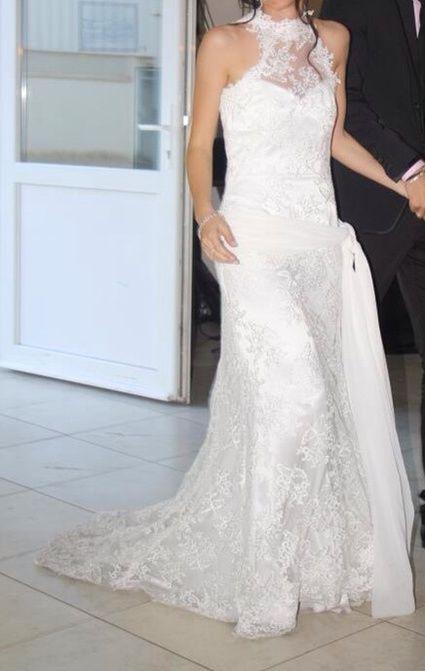 Robe de mariée Cymbeline en soie et dentelle doccasion