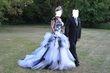 Magnifique robe de Marié blanche et noir - Occasion du Mariage
