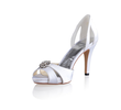 Chaussures de mariée blanches satin neuves - Occasion du Mariage