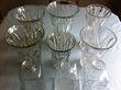 Lot de 6 grands vases + 3 carafes à whisky  - Occasion du Mariage
