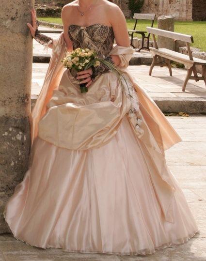 Robe de mariée Hervé Mariage doccasion bustier + jupe + jupon ...