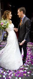 36/38 La sposa bustier, dentelle et traine - Occasion du Mariage