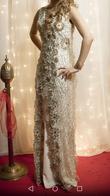 Robe orientale , de henné dorée et ivoire  - Occasion du Mariage