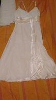 Robe courte simple + étole - Occasion du Mariage