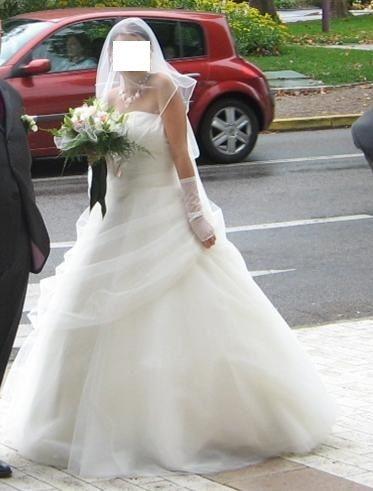Robe de mariée T34/36 blanche Point Mariage