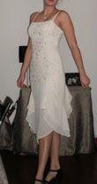 robe de mariée/de soirée courte ivoire taille 38 - Occasion du Mariage