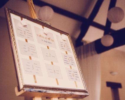 Tableau plan de table de mariage d 39 occasion - Tableau plan de table mariage ...