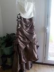robe de mariée marron et écru neuve - Occasion du Mariage