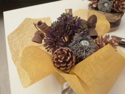 Décorations de table nature automne pour mariage