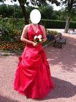 Robe de mariée rouge taille 40/42 - Occasion du Mariage