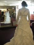Robe de mariée bustier,  longue traine - Occasion du Mariage