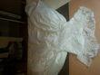 robe de mariée avec gants et voile - Occasion du Mariage