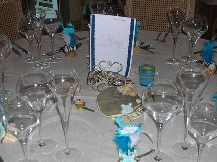 Noms des tables mariage pas cher thème marin 2012