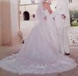 Robe de mariée bustier dentelle et perles - Occasion du Mariage
