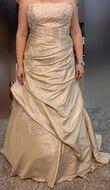 Robe de mariée T44 cappuccio/champagne - Occasion du Mariage