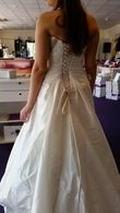Robe mariée T40 taffetas ecru - Occasion du Mariage