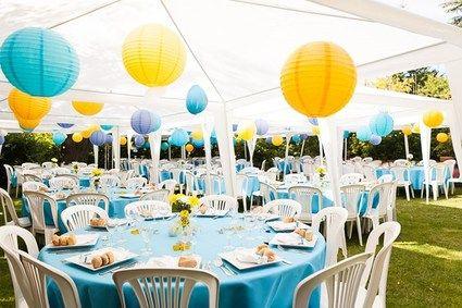 D coration mariage jaune et bleu id es et d 39 inspiration for Deco bleu et jaune