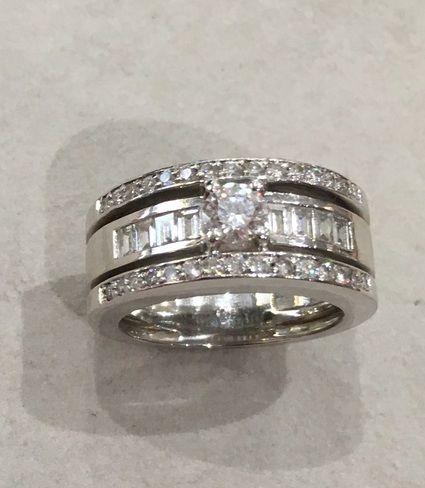 bague diamant platine occasion