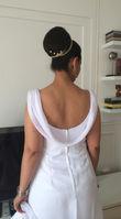 Robe sirène avec devant un décolleté en V taille 40 - Occasion du Mariage