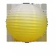 Lanternes japonaises en papier bicolores jaune et blanche - Occasion du Mariage