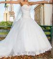 Robe de mariée ivoire longue traîne T36/38 - Occasion du Mariage