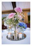11 miroirs centre de table sertis strass - Occasion du Mariage