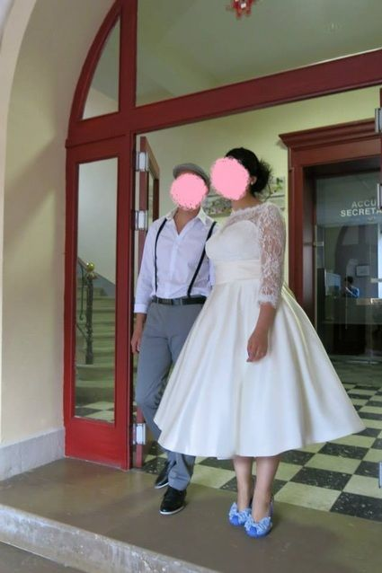 robe style ann e 50 rockabilly occasion du mariage. Black Bedroom Furniture Sets. Home Design Ideas