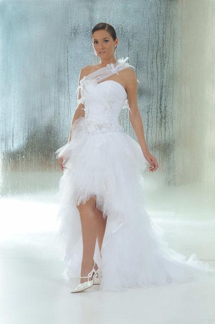 Robe De Mariee D Occasion Annie Couture Courte Devant Longue Derriere T34