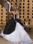 Robe de mariée Noire et Blanche T 36/38 Blacky - Occasion du Mariage